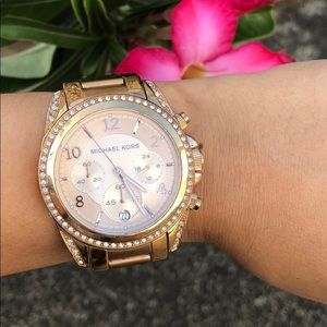 Michael Kors rosetone stainless steel watch